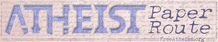 ATHEIST paper route script blank narrow