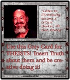 Reason Card THEIST PROFILE CARD grey2 SAMPLE