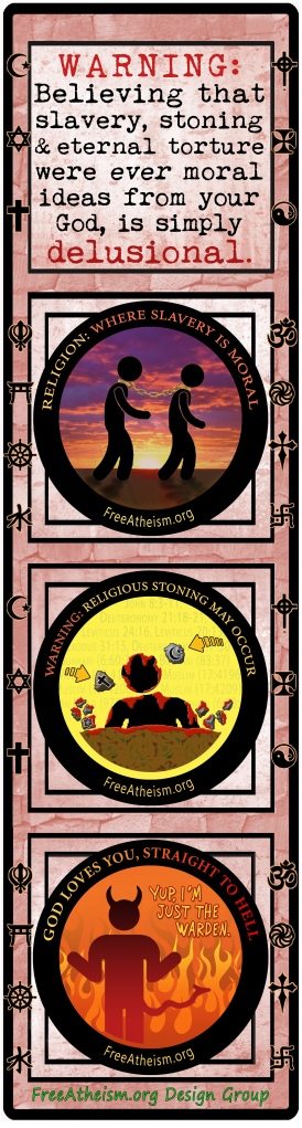 1WARNING slavery-stoning-hell bookmark