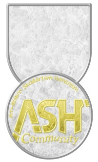 ASH tag vert gold over gray tall