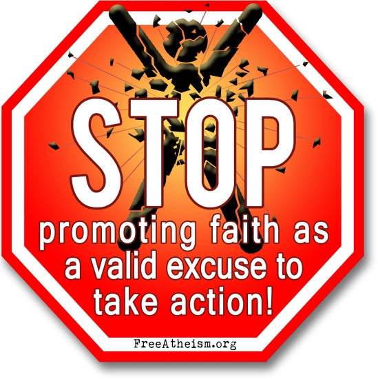 STOP promoting faith copy