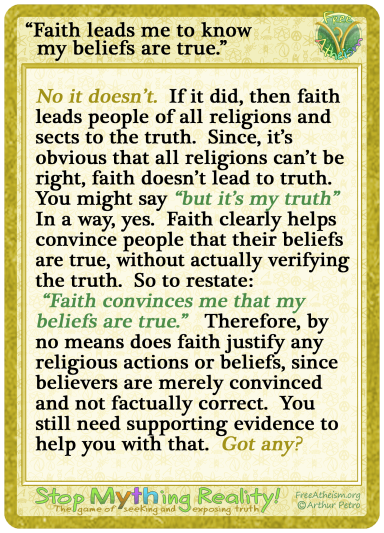 Faith leads to truth copy