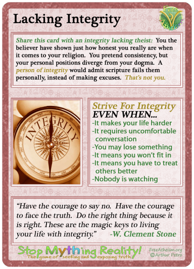 Lacking Integrity copy